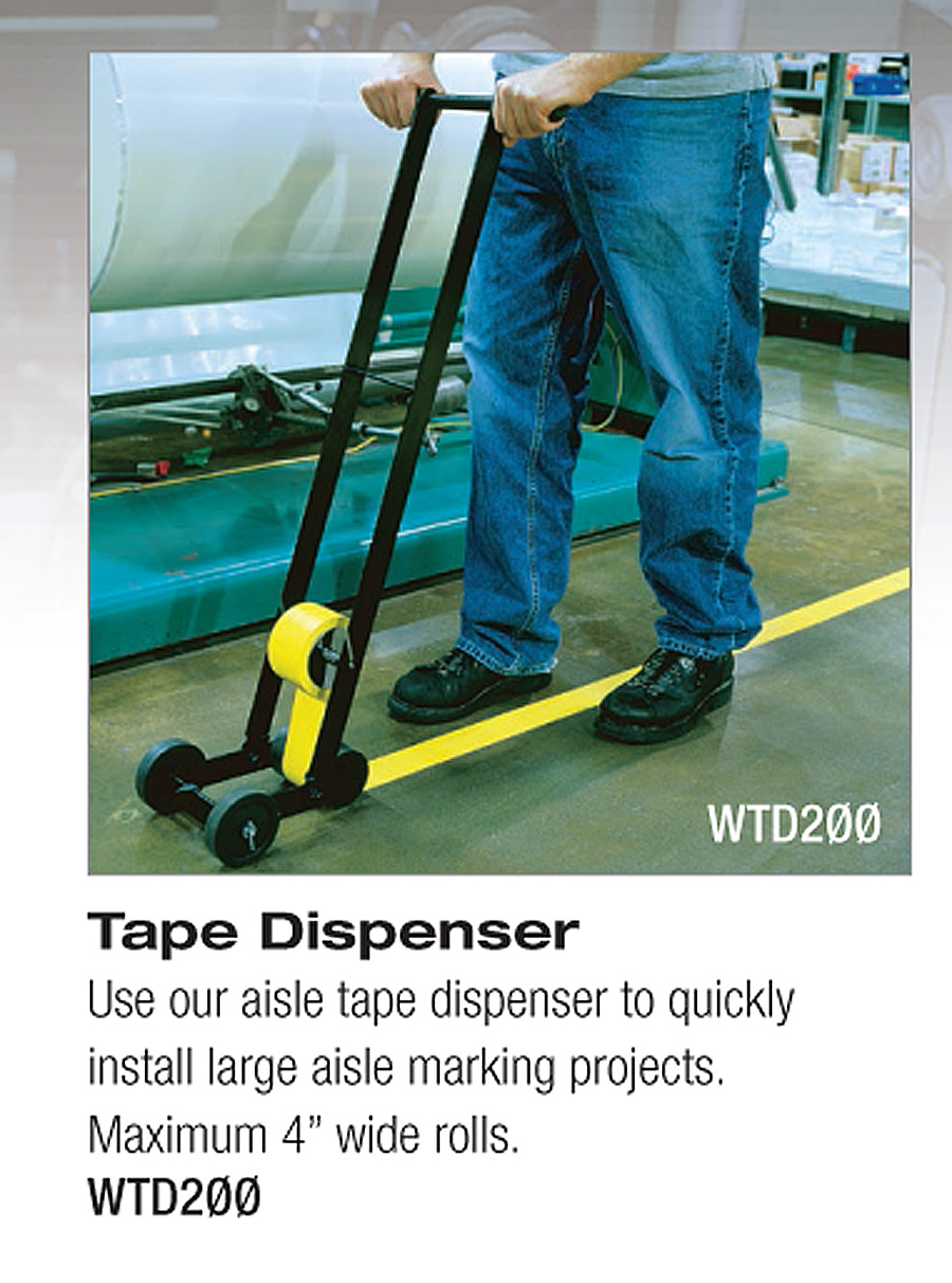 Floor Tape Applicator Machine Striping Uses Vinyl Or