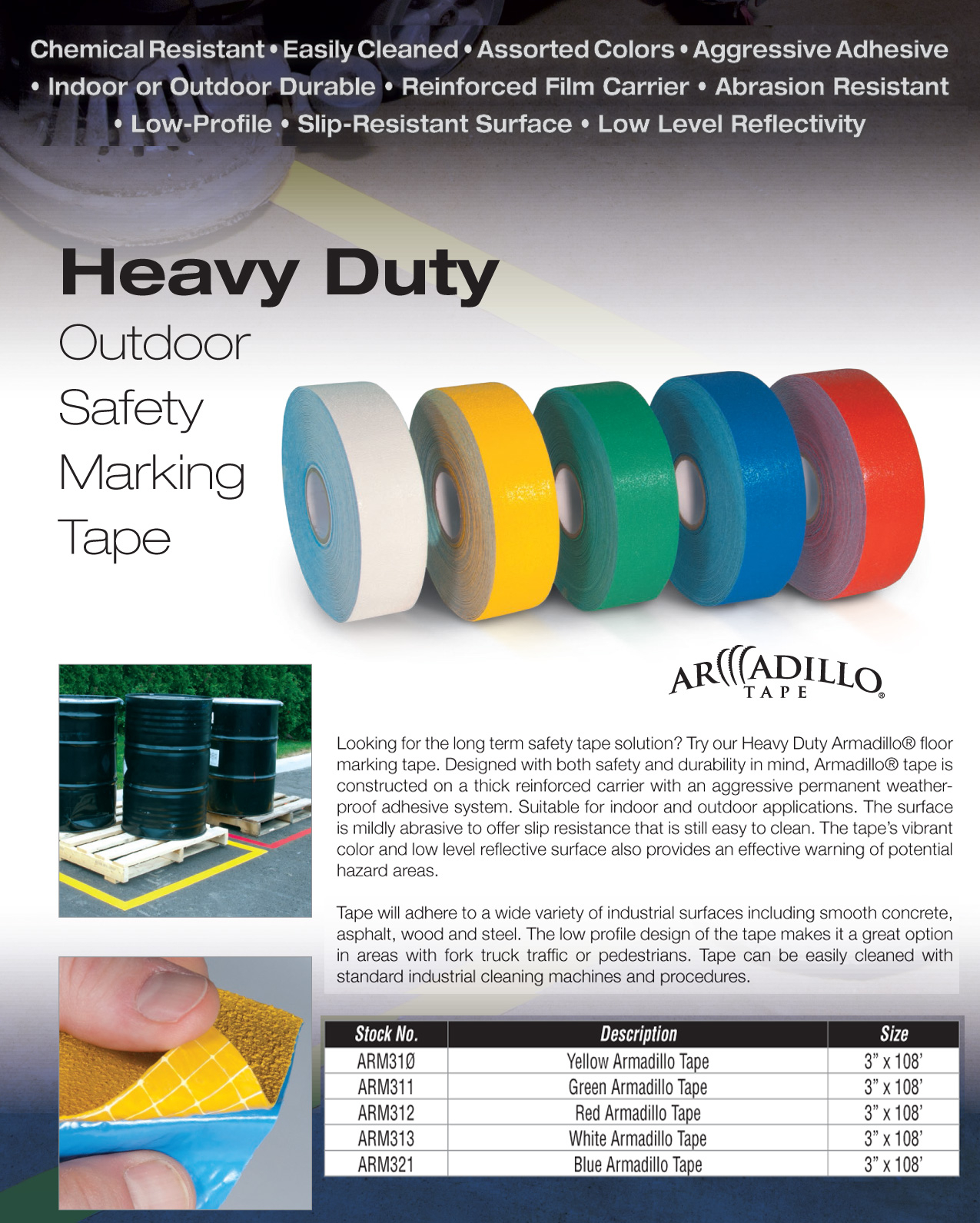 Armadillo Floor Non Skid Reflective Tape